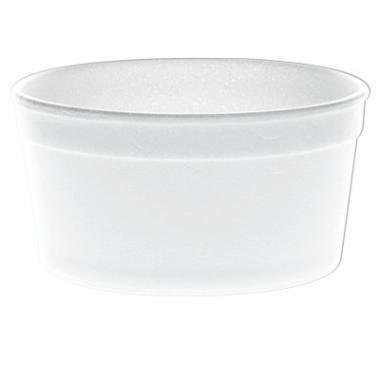 Termoskål skum hvid 240ml kt/500
