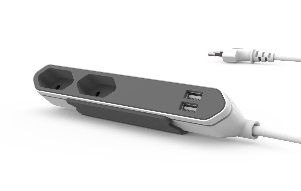 Stikdåse med USB & udtag