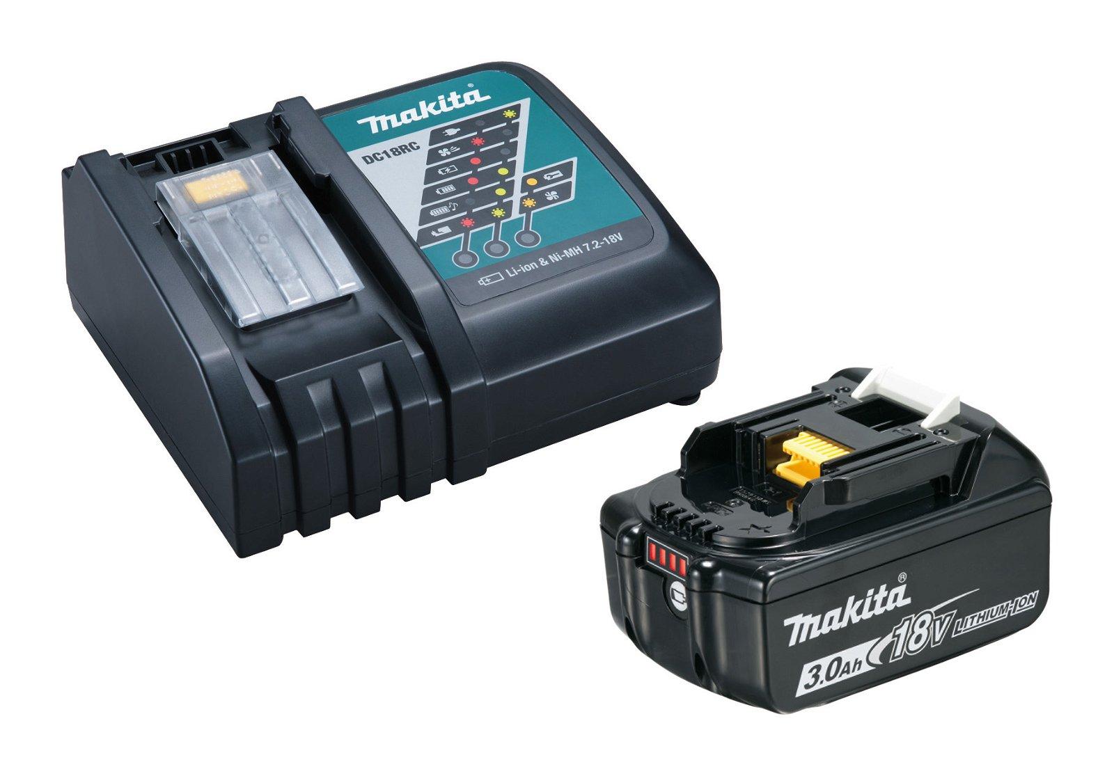 Makita LTX® BL1830B/DC18RC batteripakke