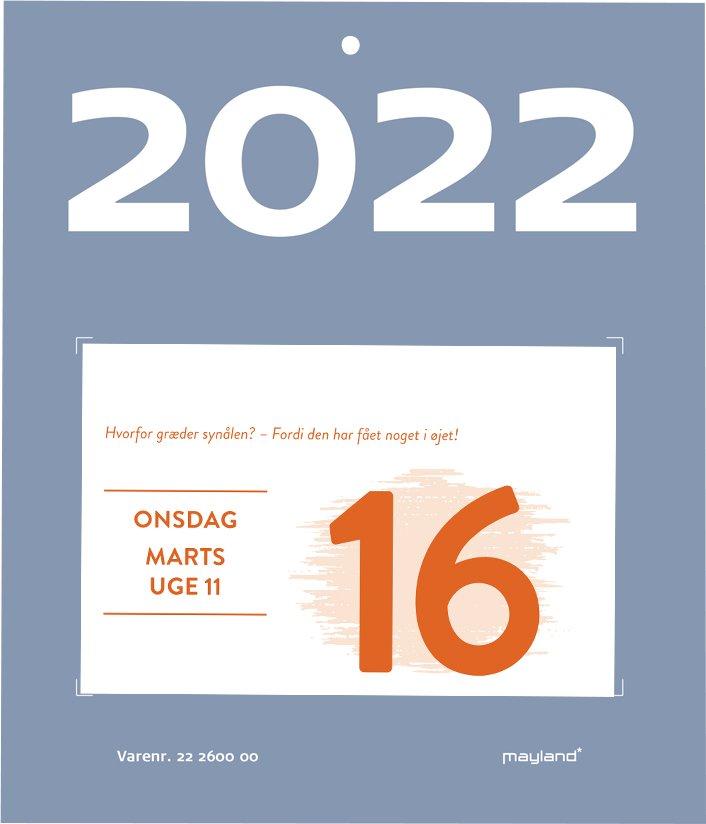 Mayland Afrivningskalender  humor 2022