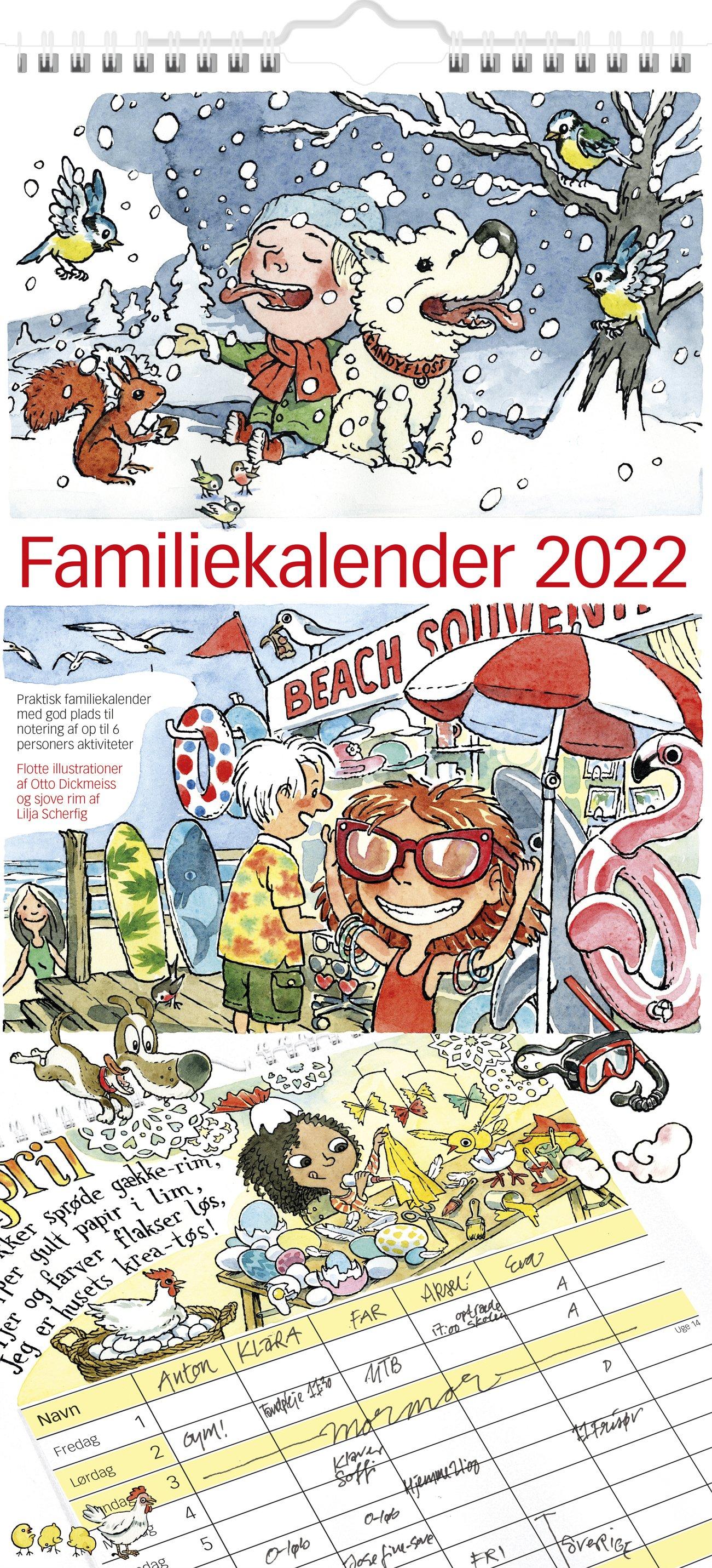 Mayland Familiekalender m/illu.  af Otto Dickmeiss 2022