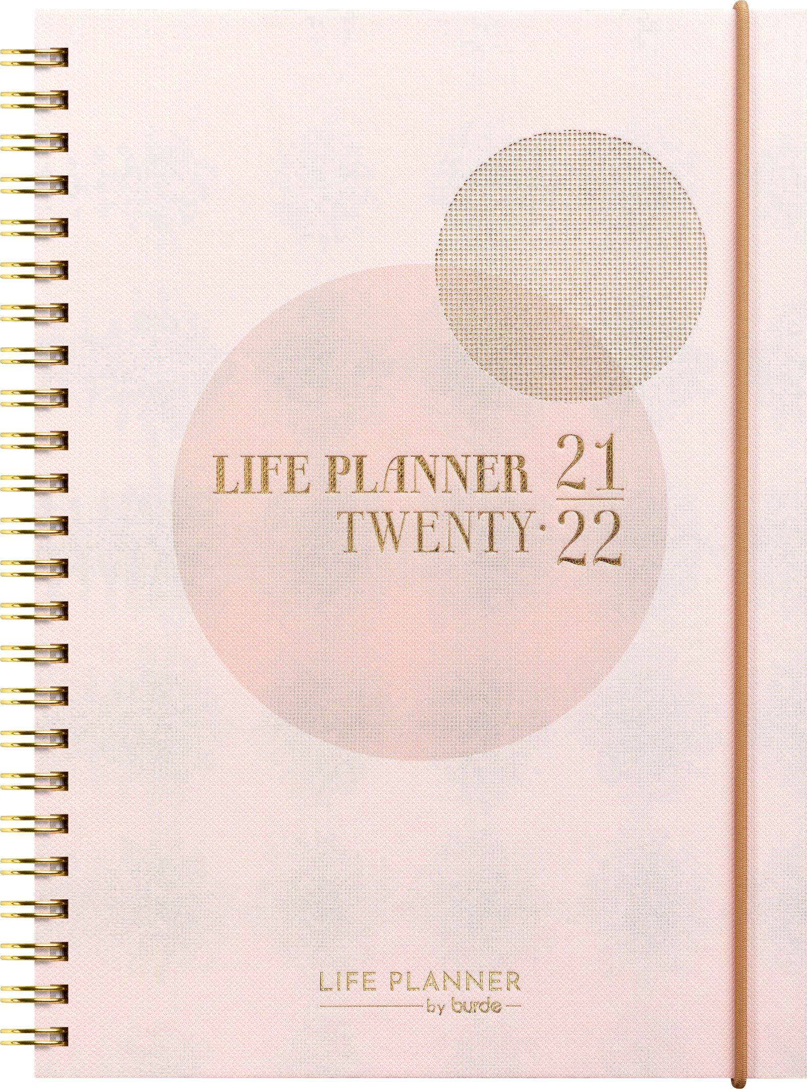 Life Planner A5, pink, studiek uge, FSC Mix