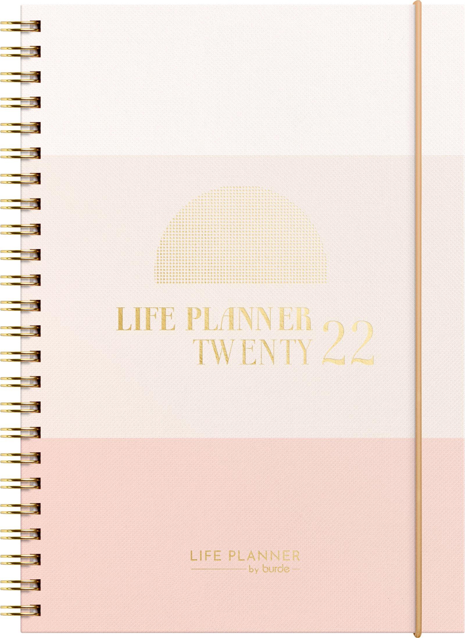 Burde Life Planner Pink  tværformat 2022
