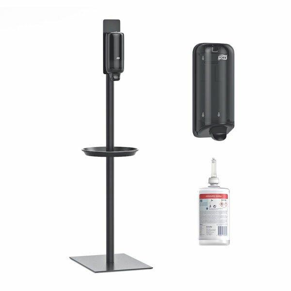 Tork Gulvstander + 1  manuel dispenser + 6 x1 ltr Tork Hånddesinfektion Gel 70%
