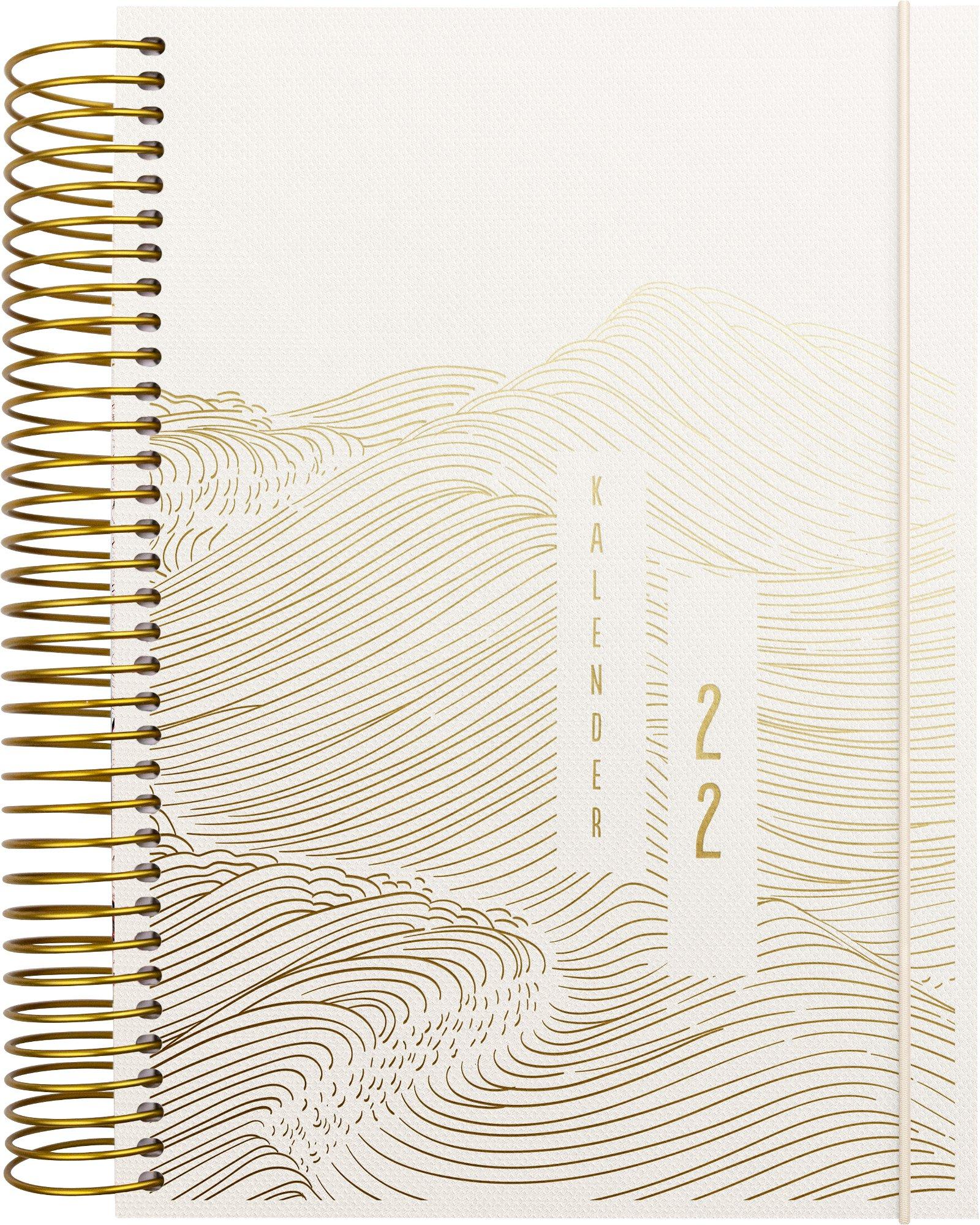 Mayland Spiralkalender 1-dag  tekstilpræg 2022