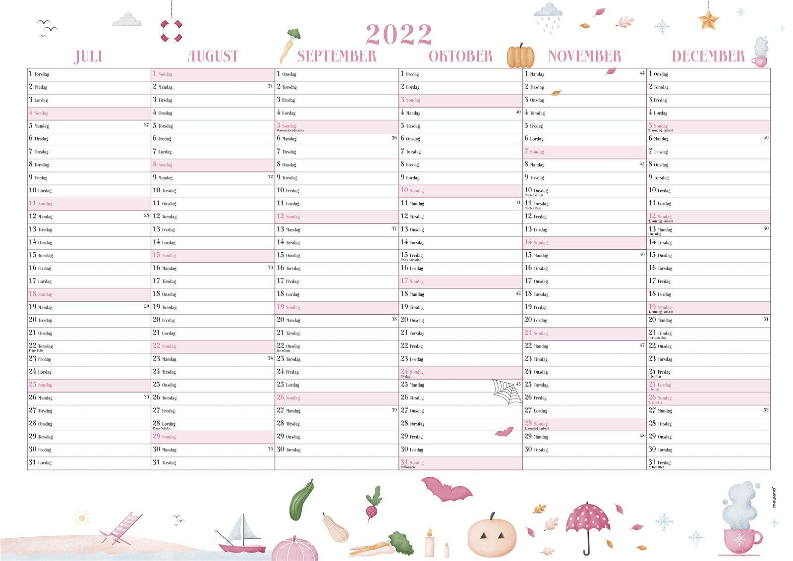 Mayland Annies vægkalender  2022