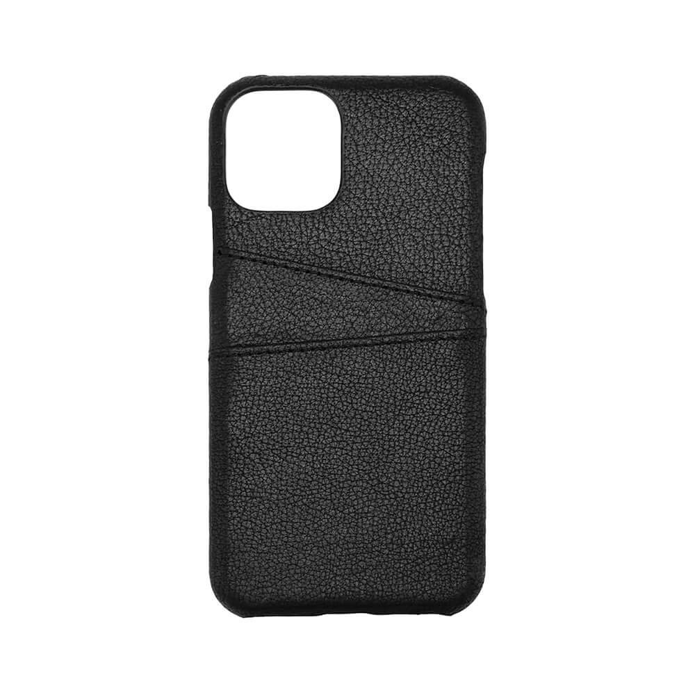 ONSALA Cover iPhone 11 Pro Sort læder med Kortrum