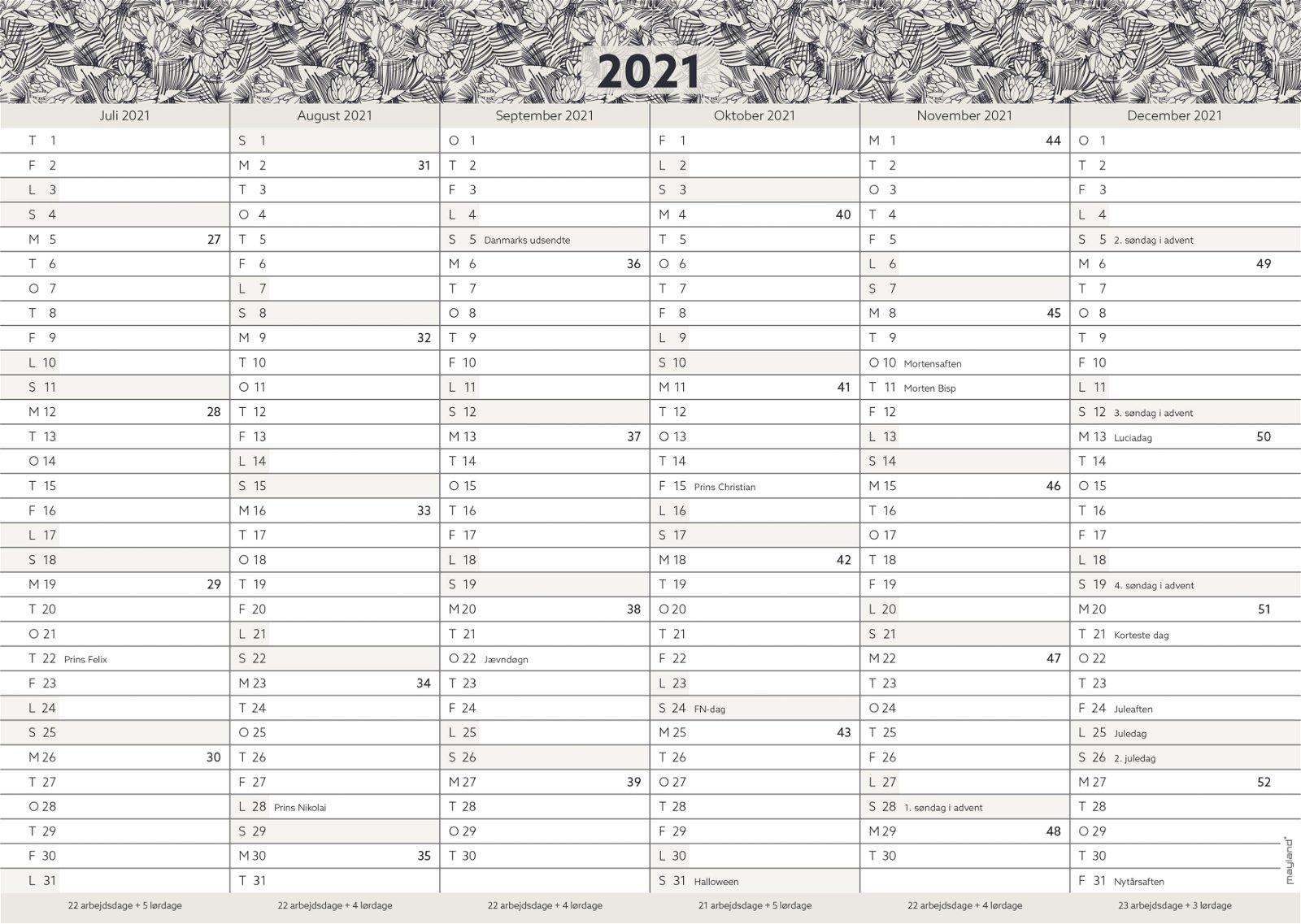 Kartonkalender A4, studie FSC Mix