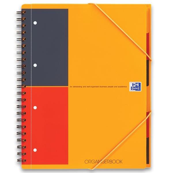 Oxford International OrganiserBook, A4+, linjeret