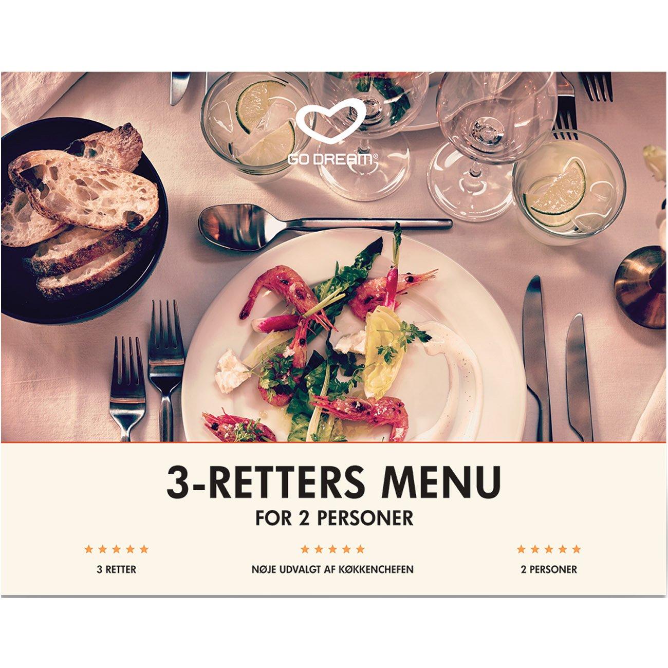 Go Dream 3-retters menu for 2