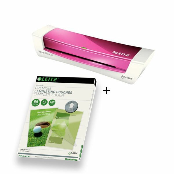 Lamineringsmaskine Leitz iLAM A4 pink + 100 stk lamineringslommer