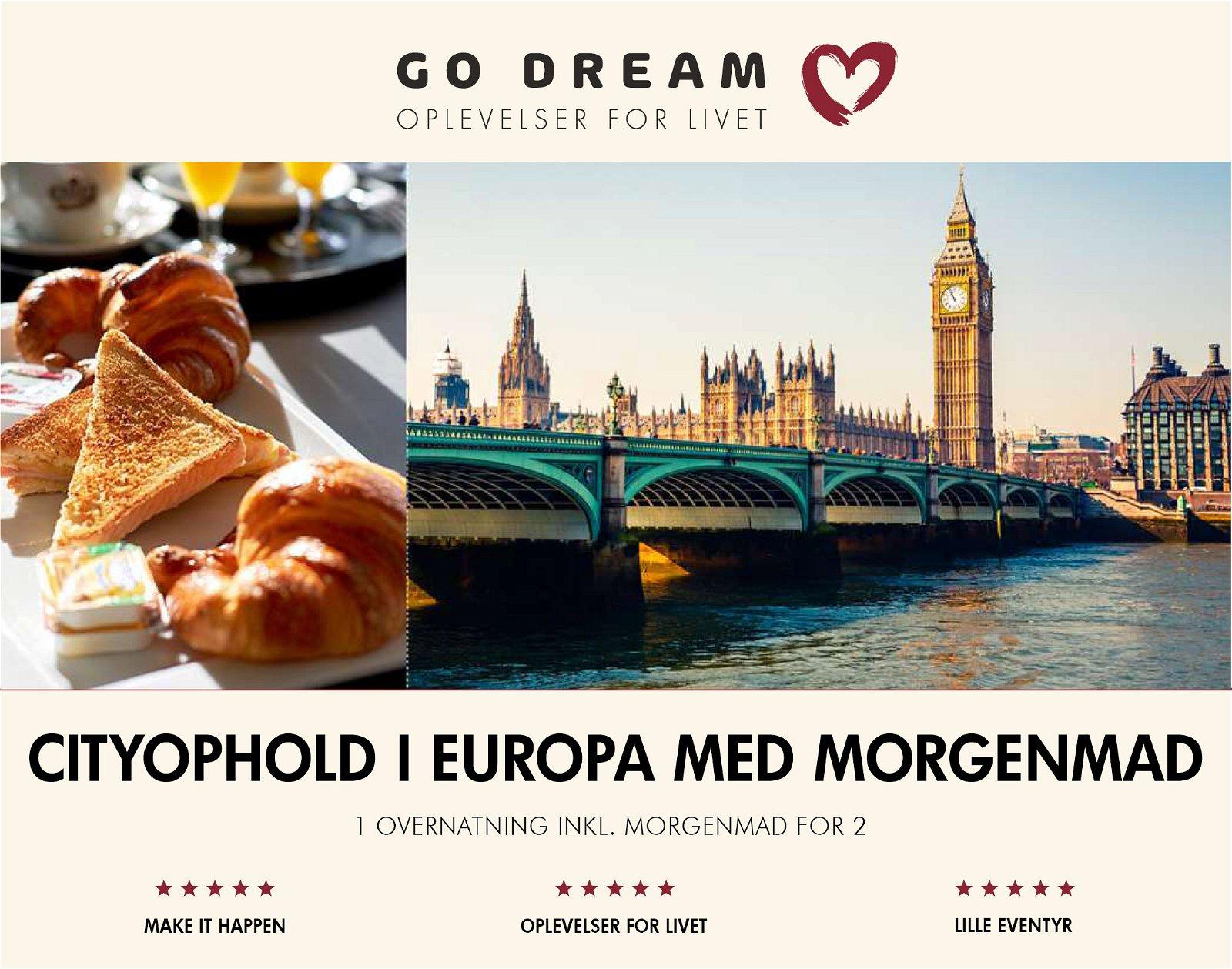 Go Dream Cityophold i Europa med morgenmad