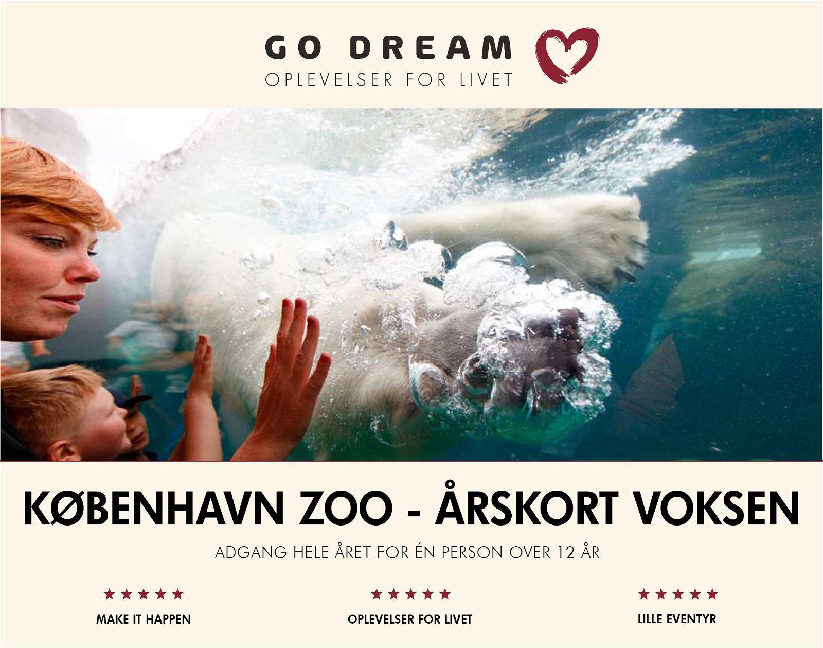 Go Dream Årskort Voksen til Købehavn Zoo