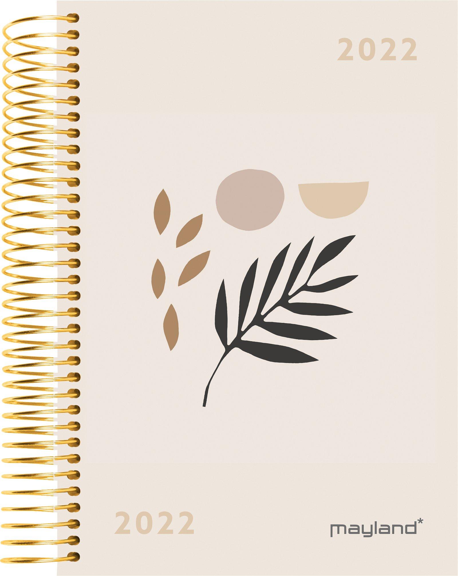 Mayland Spiralkalender 1-dag  blad trend 2022