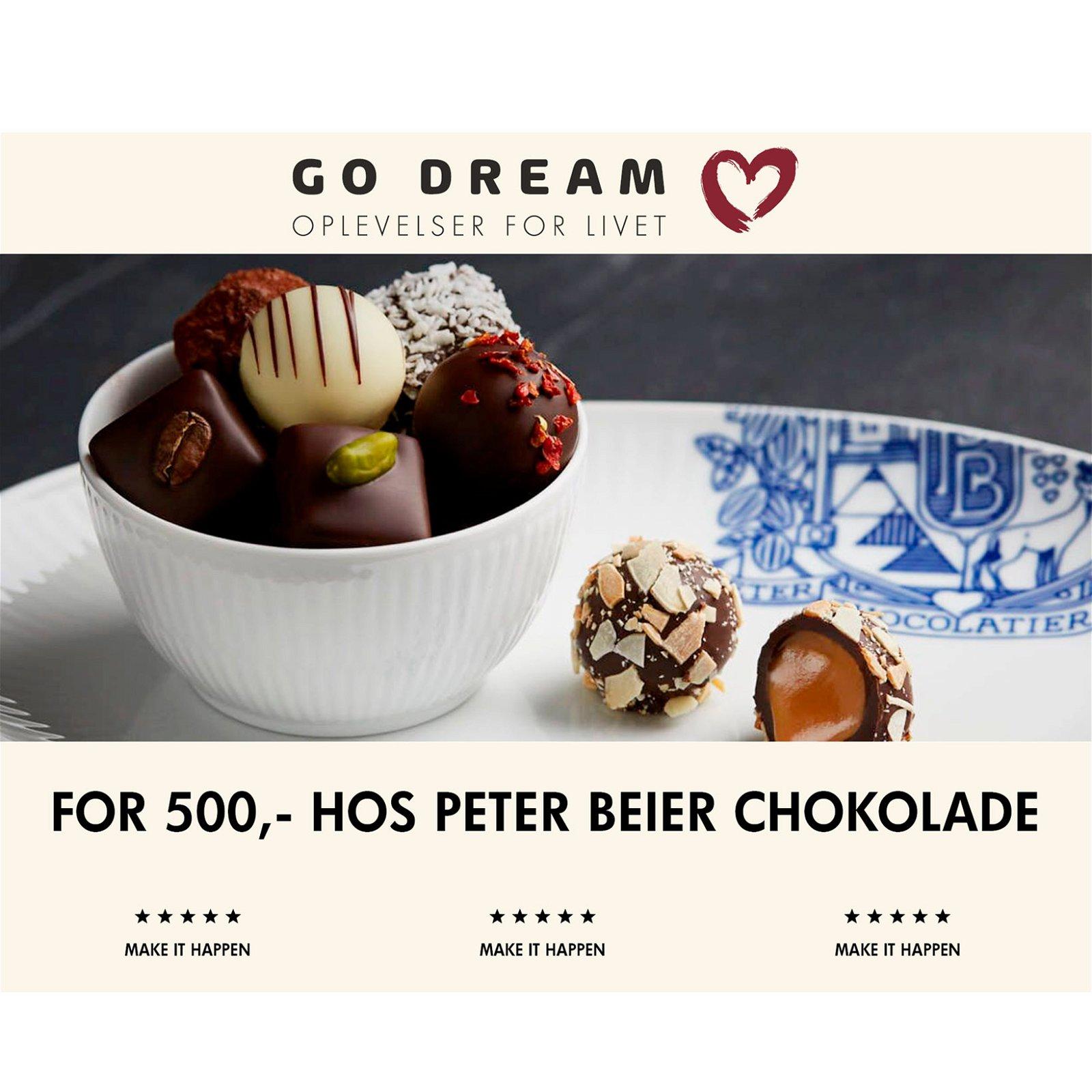 Go Dream Peter Beier Chokolade værdi kr. 500,-