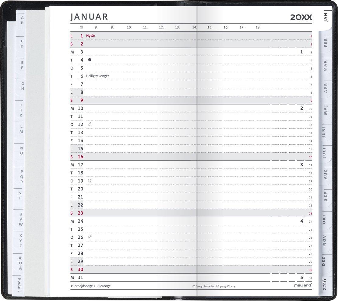 Mayland Index Planner månedskalender REFILL 2022