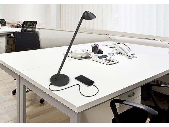Lampe Unilux Jack LED sort aluminium