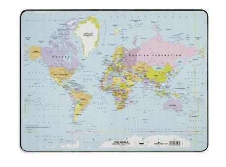 Desk Mat  with  World Map
